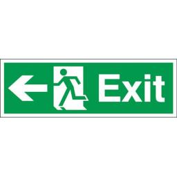 Exit - Running man - Left arrow