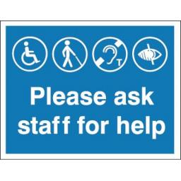 Please ask staff for help