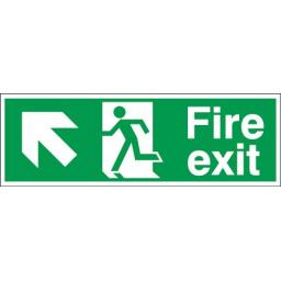 Fire exit - Running man - Left up arrow