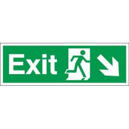 Exit - Running man - Down right arrow