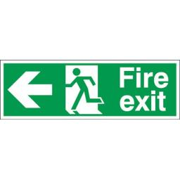 Fire exit - Running man - Left arrow