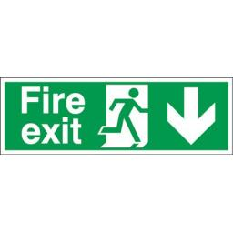 Fire exit - Running man - Down arrow