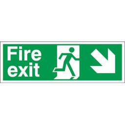 Fire exit - Running man - Down right arrow