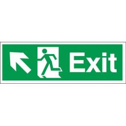 Exit - Running man - Left up arrow