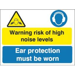 Warning risk of high noise levels Ear protection must be worn