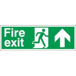 Fire exit - Running man - Up arrow