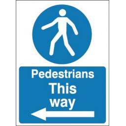 Pedestrians this way (Arrow left)