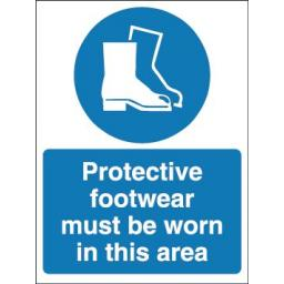 Protective footwear must be worn in this area
