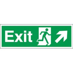 Exit - Running man - Right up arrow