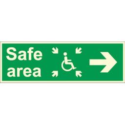 Safe area - Disabled logo - Arrow right (Photoluminescent)