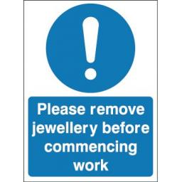 Please remove jewellery before commencing work