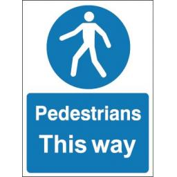 Pedestrians this way
