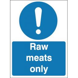 Raw meats only