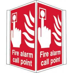Fire alarm call point (Projecting sign)