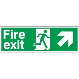 Fire exit - Running man - Right up arrow