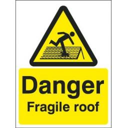 Danger Fragile roof