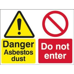 Danger Asbestos dust Do not enter