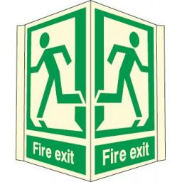 Fire exit (Projecting sign Photoluminescent)