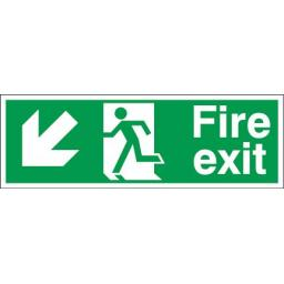 Fire exit - Running man - Down left arrow
