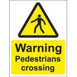 Warning Pedestrians crossing