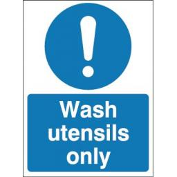 Wash utensils only
