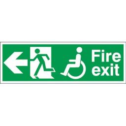 Fire exit - Disabled - Running man - Left arrow