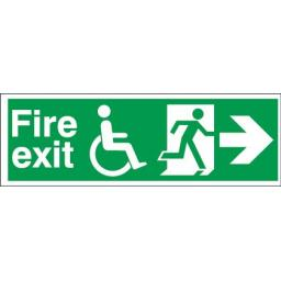 Fire exit - Disabled - Running man - Right arrow