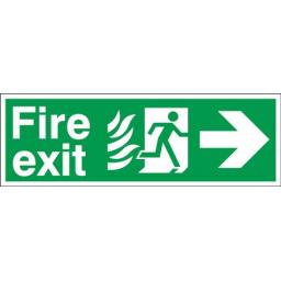 Fire exit - Flame - Running man - Right arrow