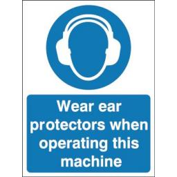 Wear ear protectors when operating this machine