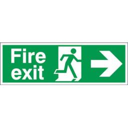 Fire exit - Running man - Right arrow