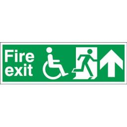 Fire exit - Disabled - Running man - Up arrow