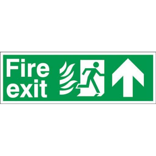 Fire exit - Flame - Running man - Up arrow