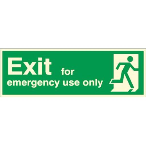 Exit - for emergency use only (Photoluminescent)