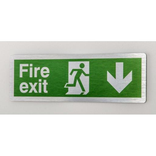 Fire exit - Running man - Down arrow (Prestige)