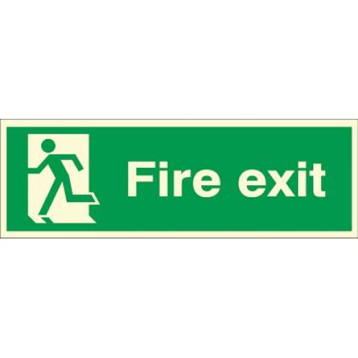 Fire exit - Running man Left (Photoluminescent)