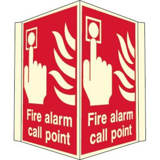 Fire alarm call point (Projecting sign Photoluminescent)