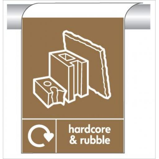 hardcore & rubble - Curve Top Sign