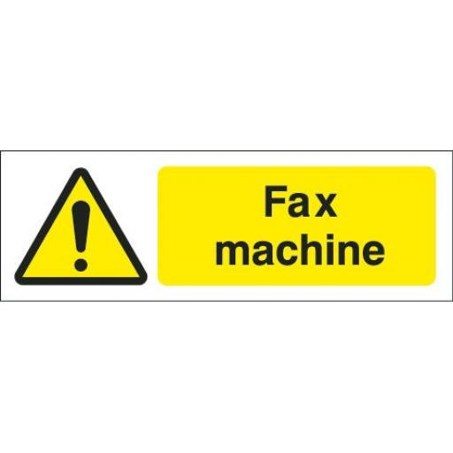 Fax machine equipment label