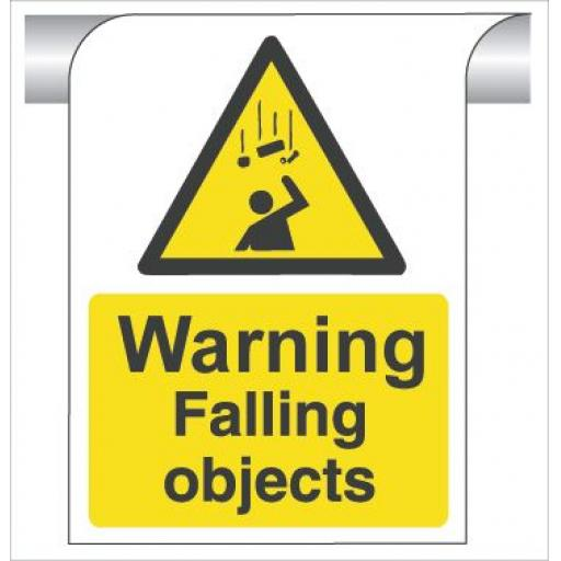 Warning Falling objects - Curve Top Sign