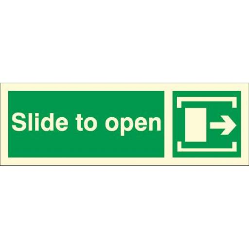Slide to open - Arrow right (Photoluminescent)