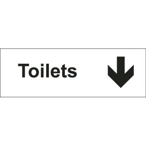Toilets - Arrow down (Double sided)