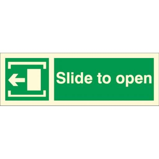Slide to open - Arrow left (Photoluminescent)