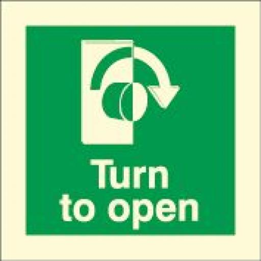 Turn to open - right (Photoluminescent)