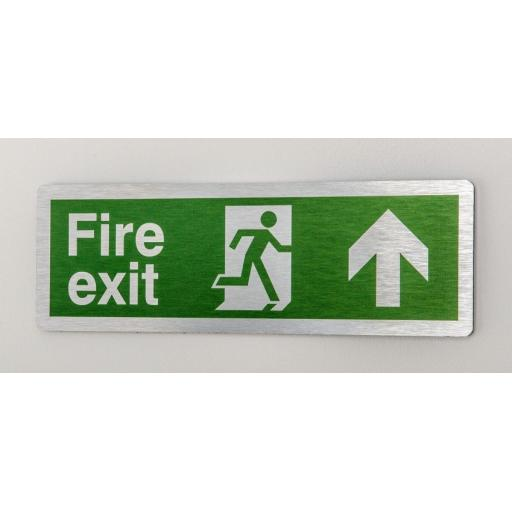 Fire exit - Running man - Up arrow (Prestige)