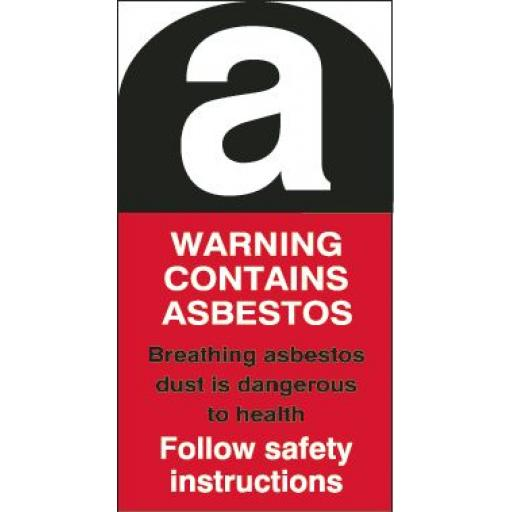 Asbestos label - Single