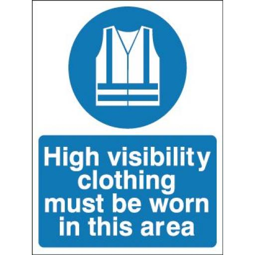 High visibility clothing must be worn in this area