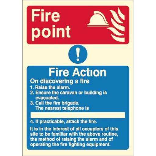 Fire Action - Fire point (Photoluminescent)