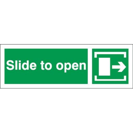 Slide to open - Arrow right
