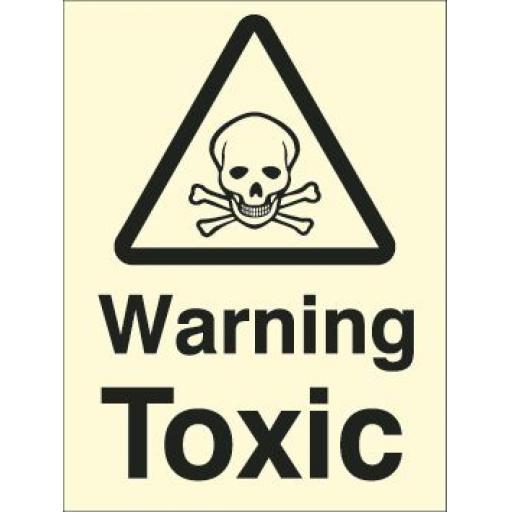 Warning Toxic (Photoluminescent)