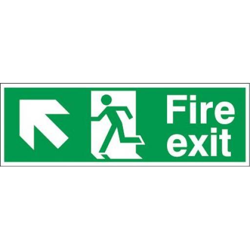 Fire exit - Running man - Left up arrow